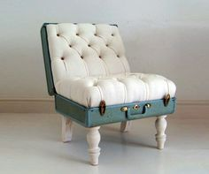 Suitcase Chair-  Now this is a cool chair