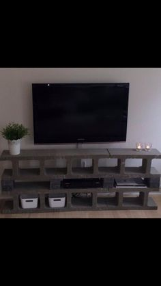 Cinder block tv furniture ❤️
