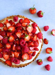 Flourless Strawberry Tart