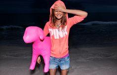 Hoodies of Summer #VSPINK #Orange #Puppies