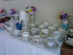 I have lots of tea cups!