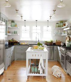 cabinets, idea, garden tour, cabinet colors, light, kitchen islands, kitchen designs, open shelving, white kitchens