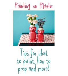 Tips for Painting on Plastic by CraftsbyAmanda.com @Amanda Formaro