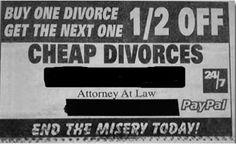 Bulk discounts for divorces!