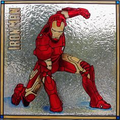 pretty awesome homage to Ironman done with #galleryglass painting on glass!!