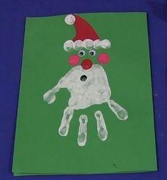 another Handprint Santa