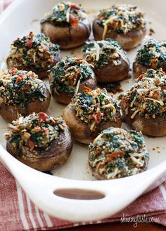 spinach mushroom appetizers