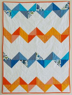 Chevron. (21 quilt ideas for baby)