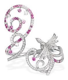 Van Cleef and Arpels Oiseaux de Paradis bracelet with pink sapphires and diamonds