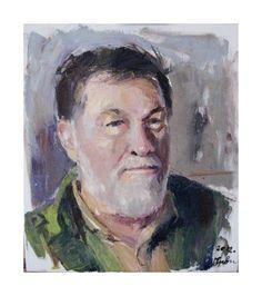 Dragoljub Stankovic Civi - Portret prijatelja - 40x35 cm - ulje na latnu - 2012. Portret nastao u likovnoj koloniji u Leposavicu ove godine.   Dragoljub Stankovic Civi - Portrait of friends - 40x35 cm - oil on canvas - 2012.