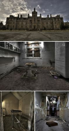 North Wales Hospital (Denbigh Asylum), complete with mortuary and autopsy table, which opened in 1848 and has been abandoned since 1995.