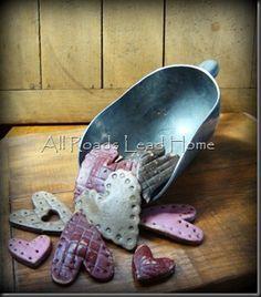 a scoop of salt dough hearts