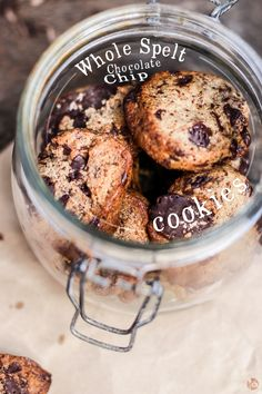 whole spelt chocOlate chip cookies
