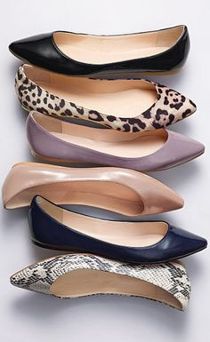 All of these are crazy cute! I love pointy toe flats with skinny jeans! Also look great paired with a pencil skirt on the days that you don't feel like wearing heels all day or if you have lots of walking to do!