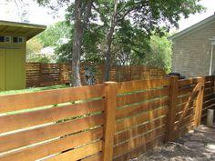 Horizontal Plank Fence