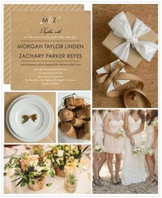 invite inspiration board {love the arrow with initials}