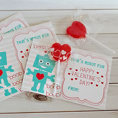 Free Robot Valentine's Day Cards