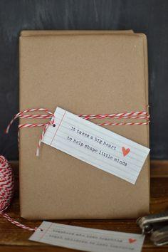 Teacher Gift Tags // Printable