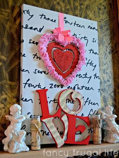 My Valentine's Day Mantel