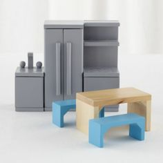 Modern Dollhouse Kitchen    The Land of Nod
