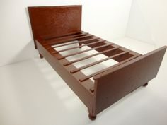 Brown Doll Bed Barbie Furniture Bed and by ElleLaLaBoutique
