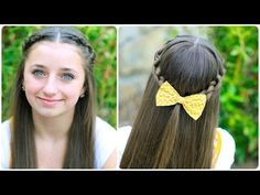 How to Create a Knotted Braid Tieback | Cute Hairstyles #hairstyles #hair #knot #braid #CGHKnotbraidtieback