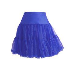 Domino Dollhouse - Plus Size Clothing: Meringue Petticoat in Blue