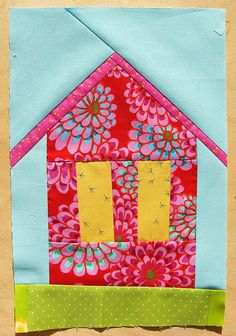 House Block, Quilting Block 2