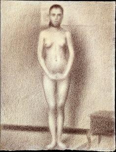 georges seurat, model, seurat draw, metropolitan museum, art, 1886, les poseus, 18591891, georg seurat