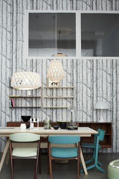 wallpap idea, interior, vintage photos, chairs, wallpapers