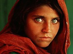 Afghan girl refugee: photo taken in 1984 by National Geographic