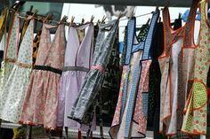 Market Display - Hanging aprons