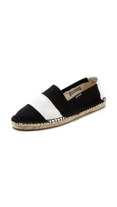 Soludos makes the best, authentic espadrilles and this black and white stripe is fantastic.
