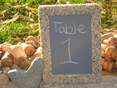 #NAUTICAL #TABLE NUMBERS #Chalkboard #Beach Wedding