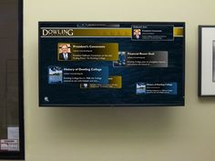 Wall-mounted LCD for anything (ex. Tweetdeck columns for AEV accounts, AEV related & Client related keyword searches)