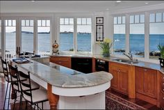 Kitchen marble ocean