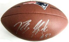 Rob Gronkowski signed New England Patriots Logo Football
