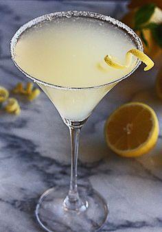 Frosty Lemon Drop Martini
