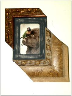Recycled No Nail Picture Frame by UncommonRecycables on Etsy, $42.50