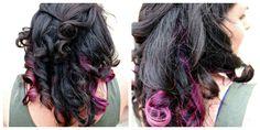 love the purple streaks in her hair