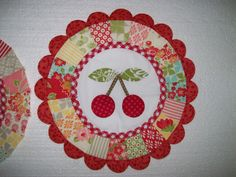 Quilted Cherries... #Quilted #Cherry