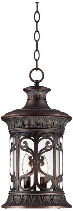 "John Timberland 18"" High Bronze Outdoor Hanging Light | LampsPlus.com"
