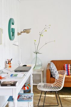 Beautiful bright workspace