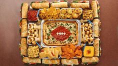 DIY Snackadiums -- Easy at-home versions for game day! | Pillsbury.com super bowl, superbowl, bon appetit, football parties, recip, football foods, game, snack, bowls