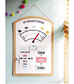 my weather station printable by mr printables