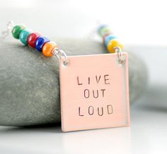 Stamped Necklace Hand Stamped Jewelry Word by WildWomanJewelry, $33.00