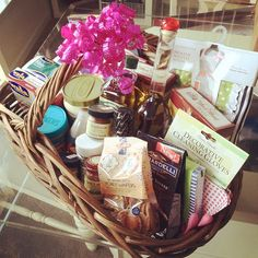 House Warming Gift Basket. Love it for people who already have just about everything they need for their new home.