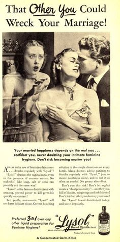 old sexist ad - lysol
