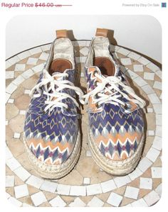 BIG SUMMER SALE Pepe jeans sneakers shoes with colorful patterns geometric patterns