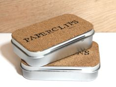 Altoid tins desk accessories